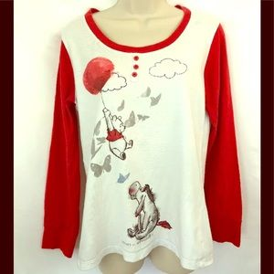 Disney Top Winnie The Pooh Long Sleeve Shirt Sz M